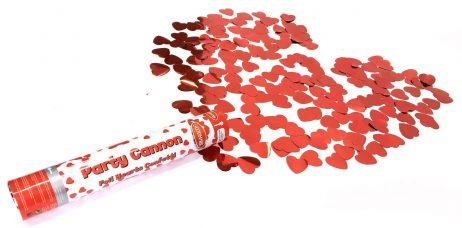 Canon à coeur rouge métal