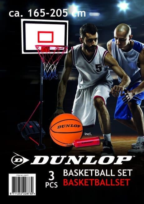 BASKET BALL SET DUNLOP (Ballon + panneau + Pompe)