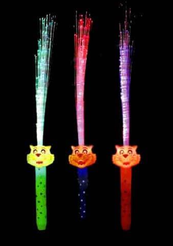 FIBRES LUMINEUSES TIGRE (Couleurs assorties)