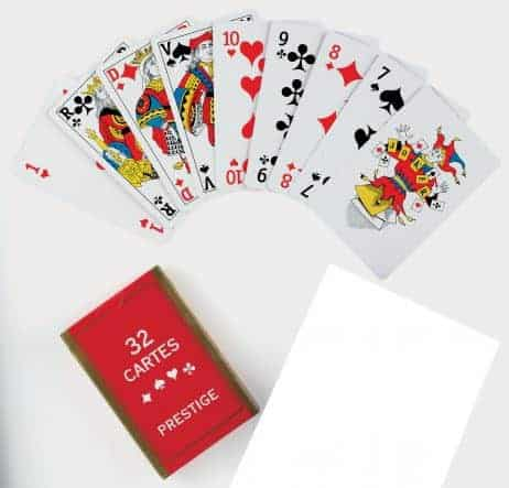 32 cartes a jouer