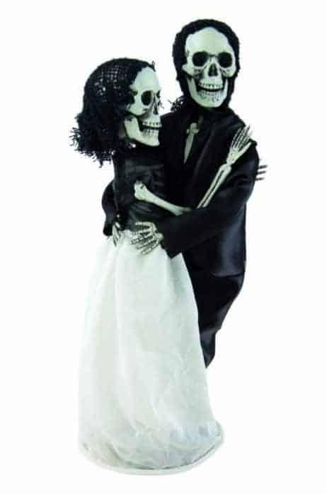 COUPLE DE SQUELETTES (Couple de mariés sur socle)