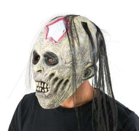 MASQUE CRANE ZOMBIE (Avec cheveux)