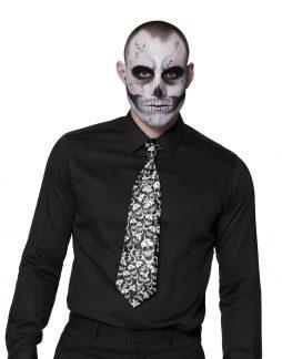 Cravate tete de mort