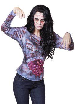 Chemise zombie pour femme