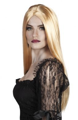 Perruque blonde morticia
