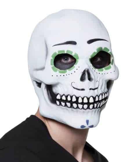 MASQUE - FÊTE DES MORTS Masque squelette en latex (Fiesta de los muertos)