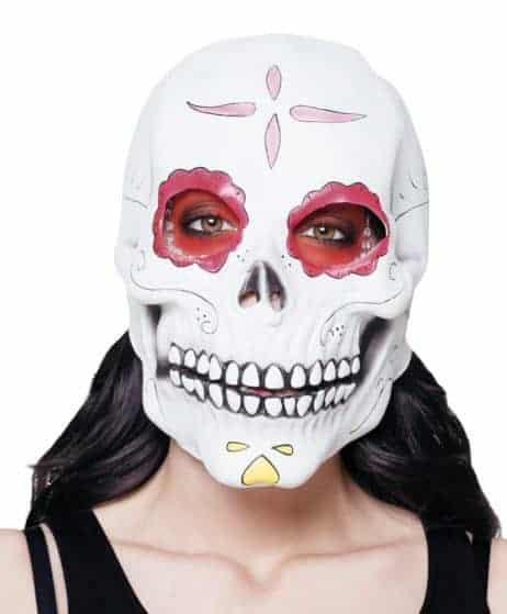 MASQUE JOUR DES MORTS (Masque squelette en latex) Dia de los muertos