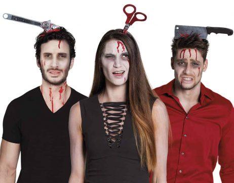 OUTILS SANGUINOLENTS (Serre tête Halloween)