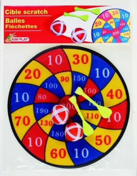 CIBLE SCRATCH VELCRO (Balles et fléchettes) Diamètre 30 cm