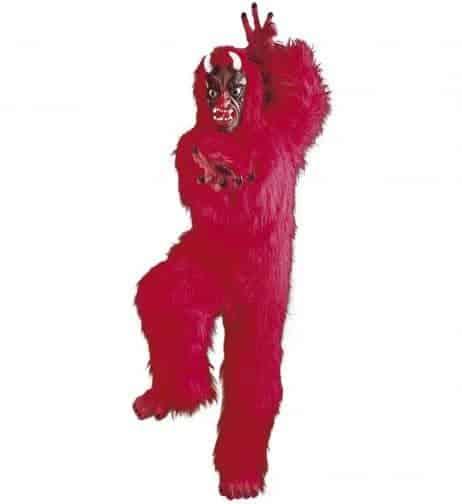 Mascotte diable rouge
