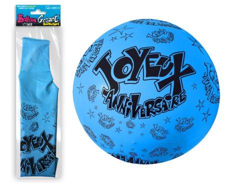Ballon bleu 116 cm
