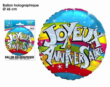 Ballon multicolore 46 cm