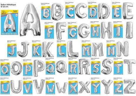 Lettres gonflables 36 cm