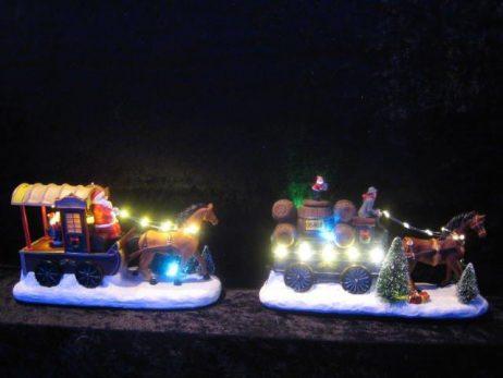 CHARIOT DU PERE NOEL (Animation + son et lumière) Décoration de Noel