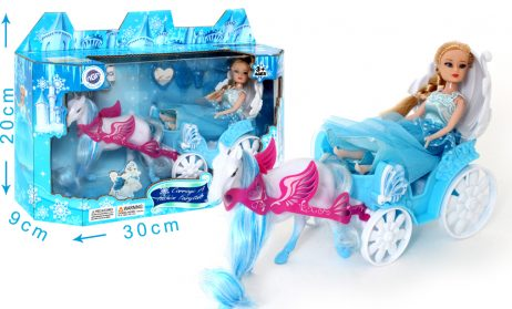 BOITE POUPÉE CARROSSE (avec cheval et princesse) Petit carrosse