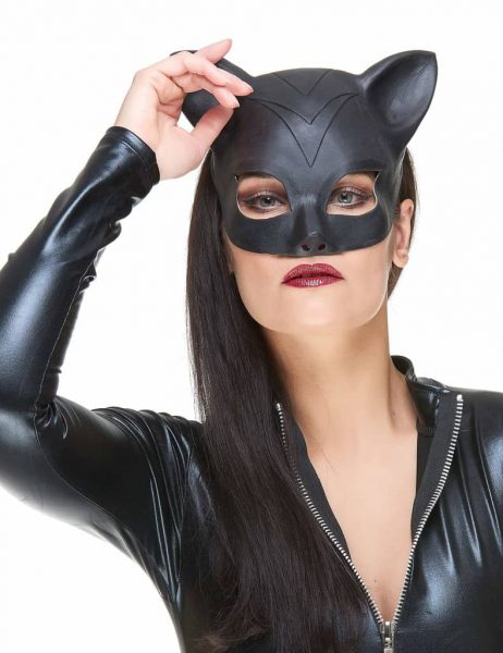 Masque femme chat latex