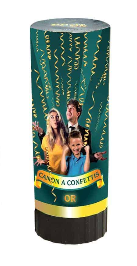 Canon a confettis dorés