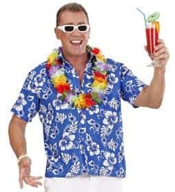 Chemise hawai bleue