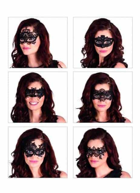 LOUP DENTELLE NOIRE (Masque en dentelle) Assortiment 6 modèles