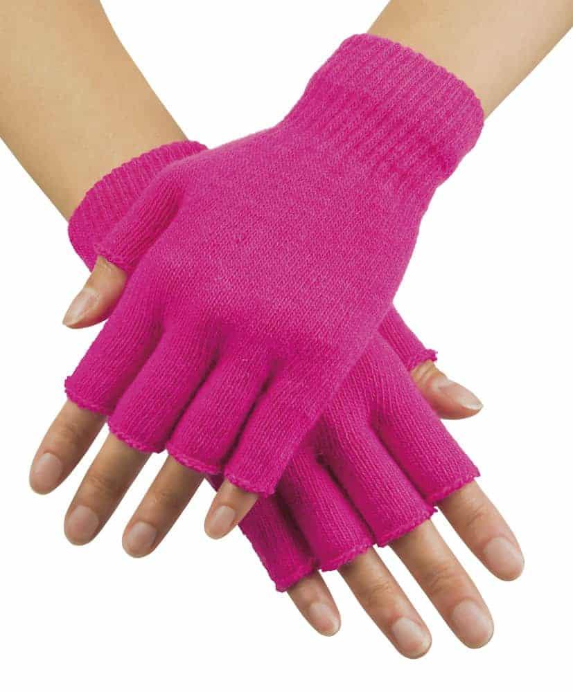 gants mitaines fluo couleur rose ced. Black Bedroom Furniture Sets. Home Design Ideas