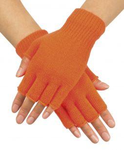 Gants courts oranges