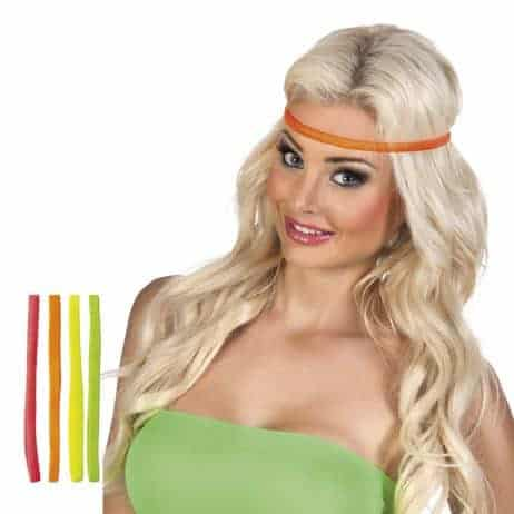 BANDEAU NÉON FASHION (Set 4 bandeaux - 4 coloris) Hippie - Seventies