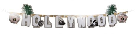 GUIRLANDE - HOLLYWOOD (Dimension 135 centimètres) Lettres Hollywood