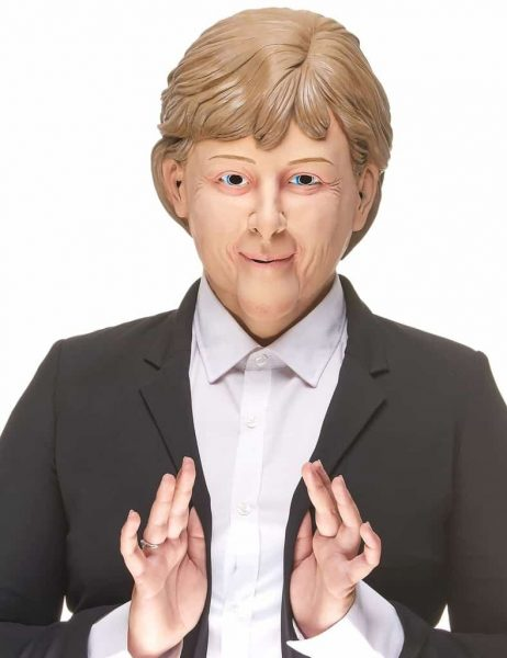 Angela Merkel maque latex