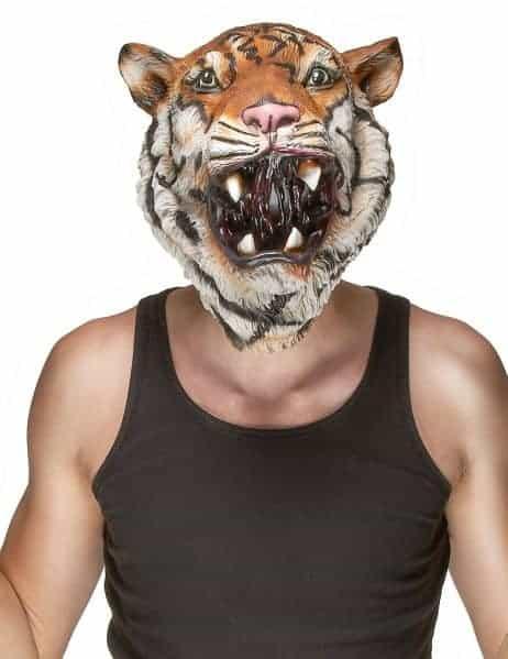 Masque tigre en latex