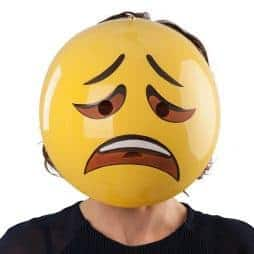 Masque emoticone triste