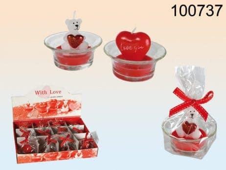 Bougie ourson st valentin