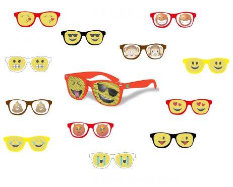 Lot 12 lunettes emoticones