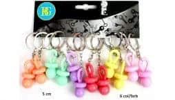 Porte clé tétine 6 couleurs