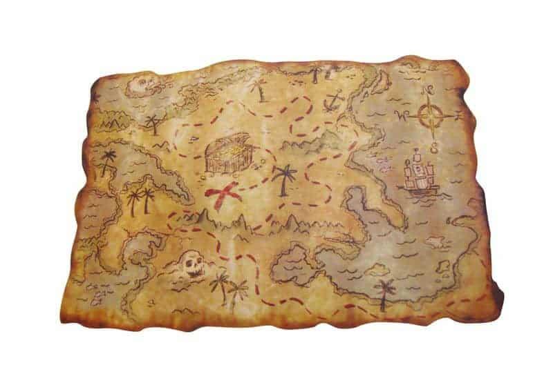 Carte Au Tresor Pirate.Carte Au Tresor Pirate Taille 29 X 45 Cm