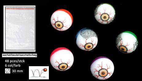 Balles yeux globuleux