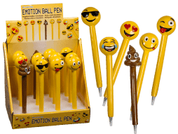 Box stylos a billes emoticones