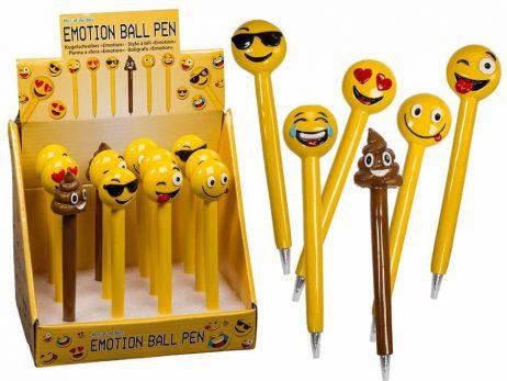 Box stylos a billes emoticones