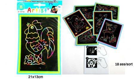 Carte à gratter magique (Dimension 21 x 13 cm)