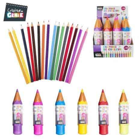 Etui crayon avec 16 crayons