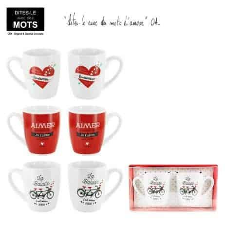Mugs couple amoureux