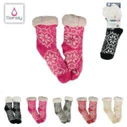 Chaussettes chaussons femme