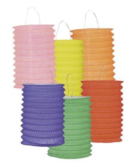 LAMPION - 6 COULEURS (Papier - Taille 16 cm)