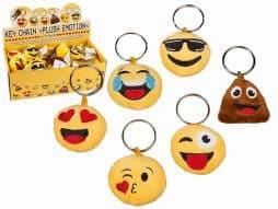 Porte clé emoticone peluche