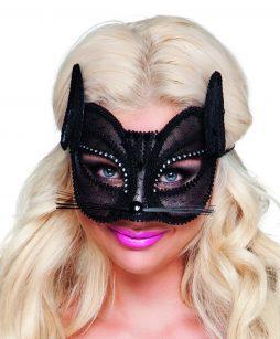 Masque chat en dentelle