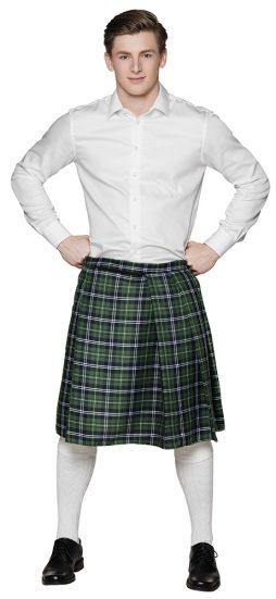 Kilt ecossais vert