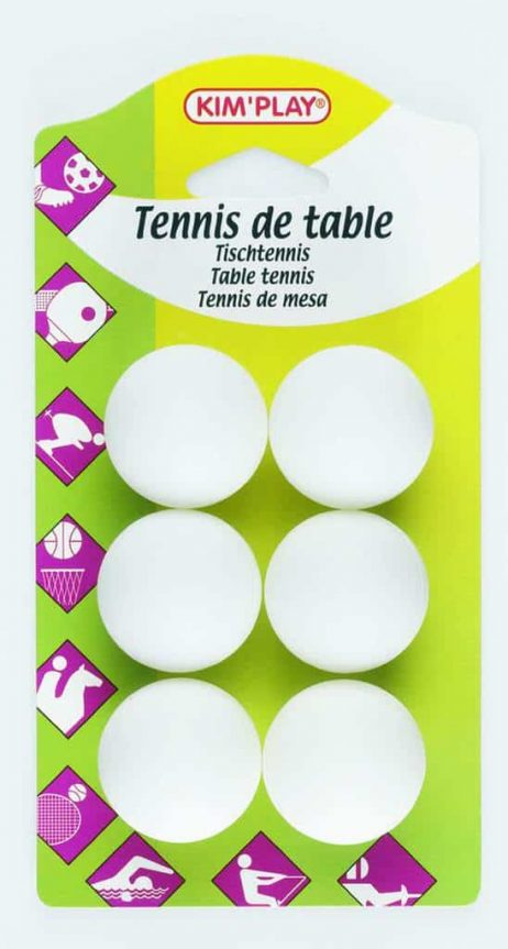 BALLES DE TENNIS DE TABLE (6 balles de Ping Pong)