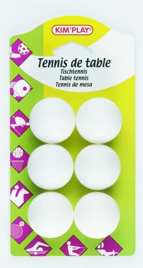 Pack 6 balles de ping pong