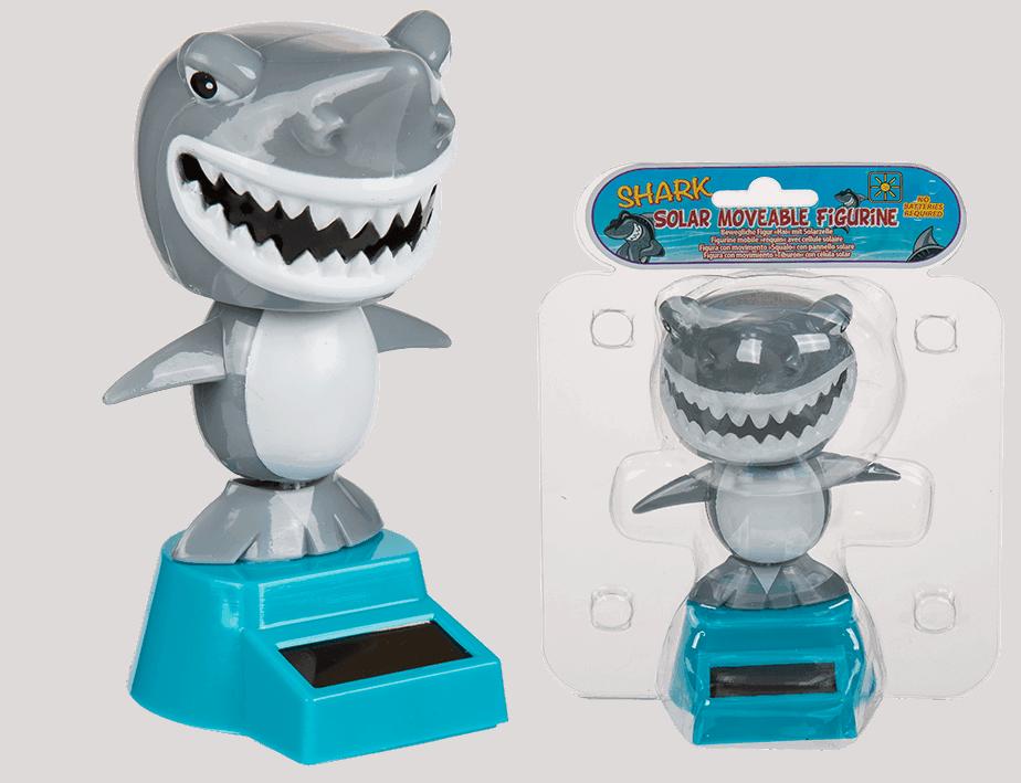 Requin solaire anim figurine solaire anim e d coration energie solaire ced - Requin rigolo ...