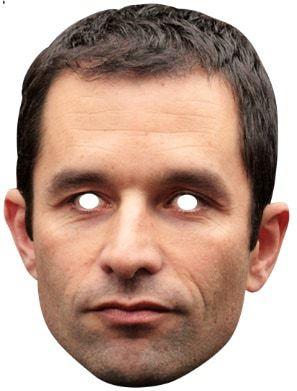 Masque carton Benoit Hamon