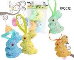 4 lapins de paques déco